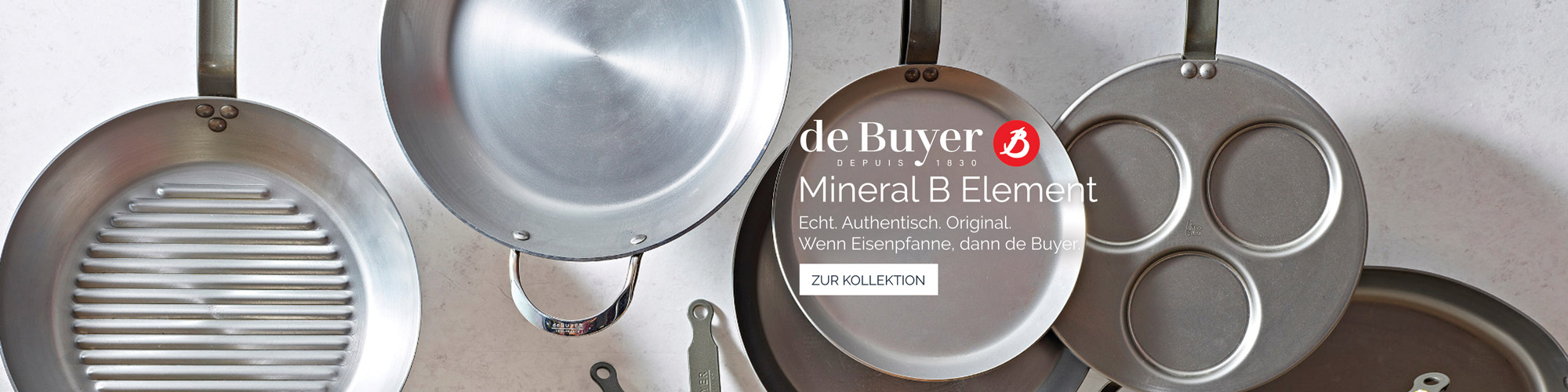 de Buyer Mineral B Element Eisenpfannen